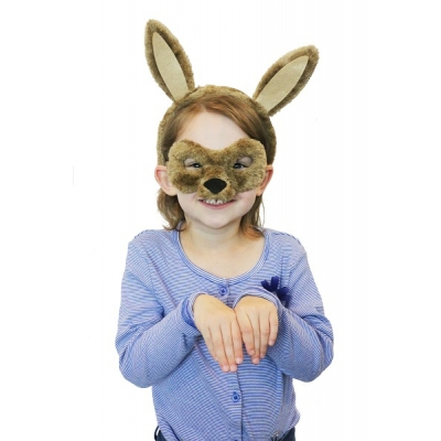 Kangaroo Animal Mask and Headband title=