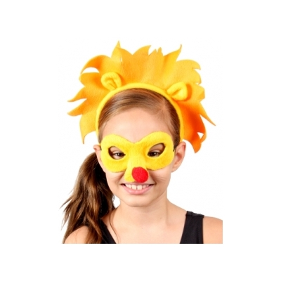Lion Animal Mask and Headband title=