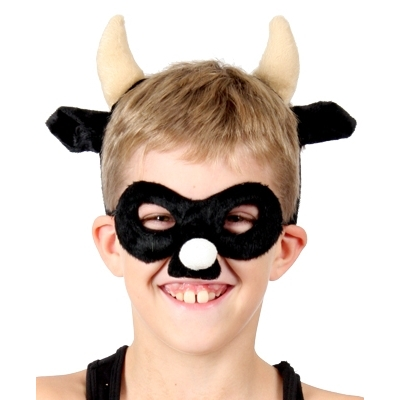 Bull Animal Mask and Headband title=