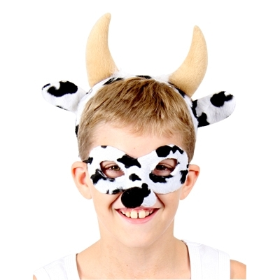 Cow Animal Mask and Headband title=
