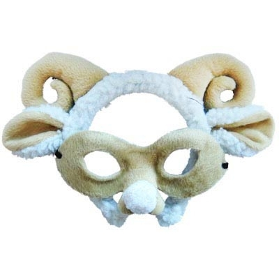 Sheep/Ram Animal Mask and Headband title=