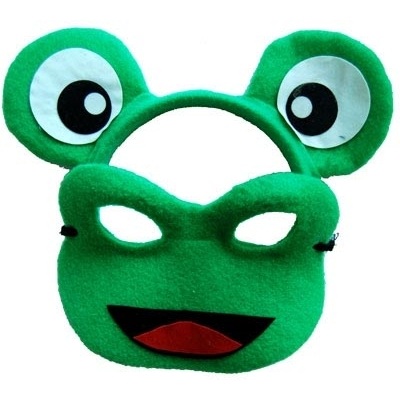 Frog Animal Mask and Headband title=