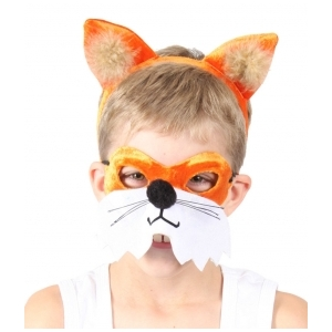 Fox Animal Mask and Headband