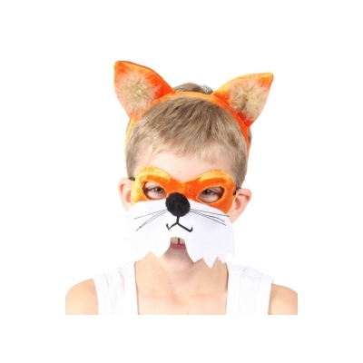 Fox Animal Mask and Headband title=
