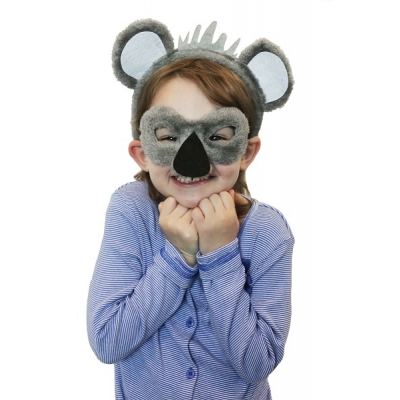 Koala Animal Mask and Headband title=