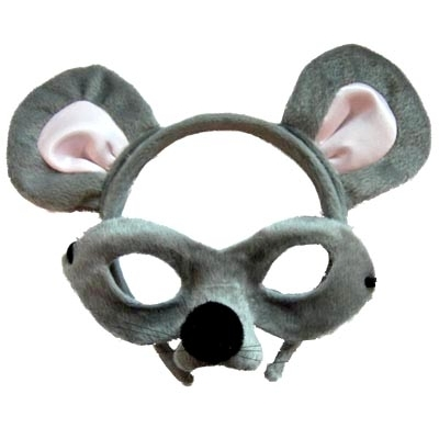 Mouse Animal Mask and Headband title=