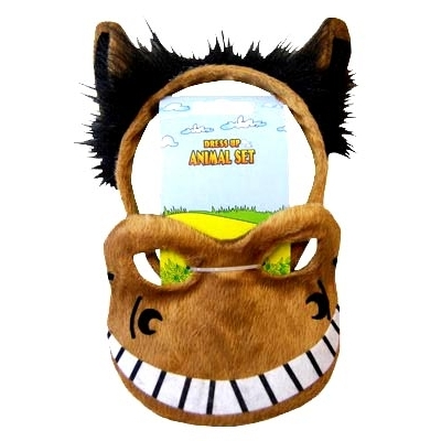 Horse Animal Mask and Headband title=