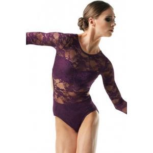 Lace Open Back Leotard