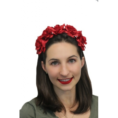 Deluxe Rose Headband - Day Of The Dead style title=