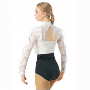 Ruffled Lace Leotard
