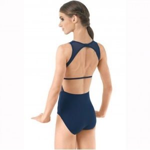 Backless Mesh Leotard