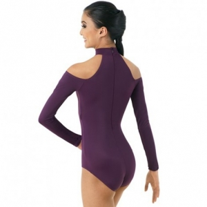 Cold-shoulder Leotard