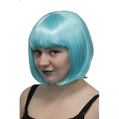 Deluxe Bob Wig - Candy Blue title=