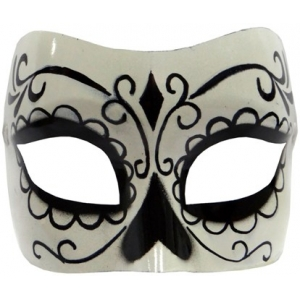 Day of Dead Mask - Black and white mask