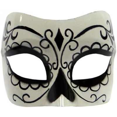 Day of Dead Mask - Black and white mask title=