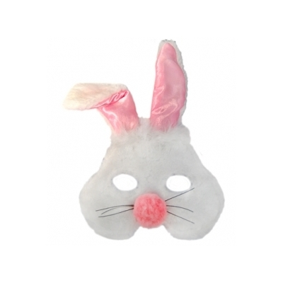Plush Animal Mask - Rabbit title=