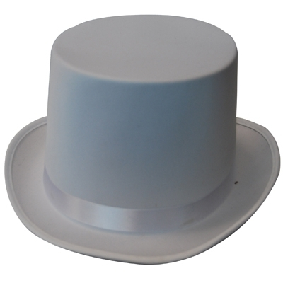 Top Hat - White Satin title=
