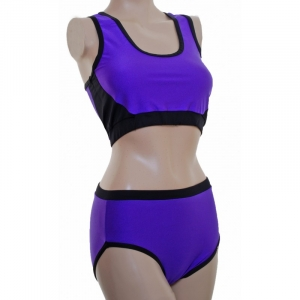 POLE DYNAMIX Purple Lycra Set