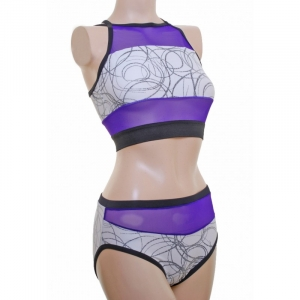 POLE DYNAMIX Swirl Mesh Top and Nix