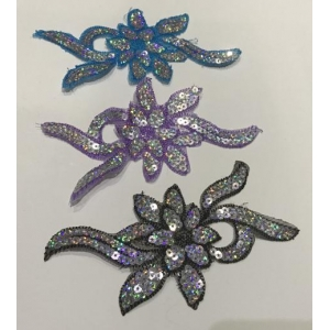 Sequin Flower Small 17x9cm