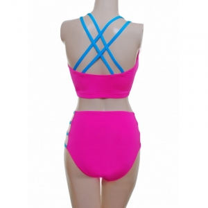 Camisole Strappy Crop top and High Waisted Strappy Nix- Toffee Pink