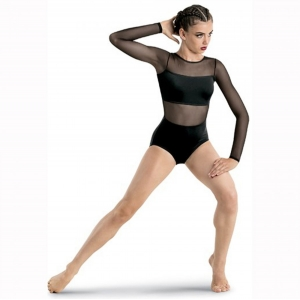Long Sleeve Backless Leotard