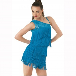 One Shoulder Fringe Dress