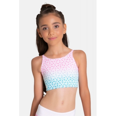 Mosaic Cropped Singlet title=