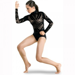 Geometric Lace leotard