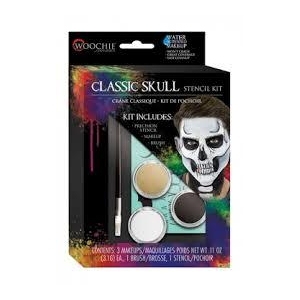 Classic Skull Stencil Water Activated Makeup Kit