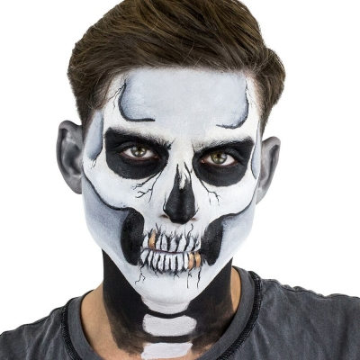 Classic Skull Stencil Water Activated Makeup Kit title=