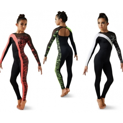 Crackle Print Unitard title=