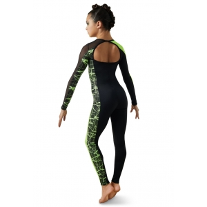 Crackle Print Unitard