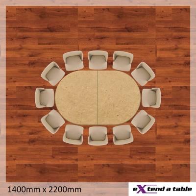 1200mm Rectangle Folding Tabletop Extender