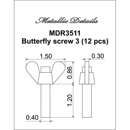 Butterfly screw 3 1/35