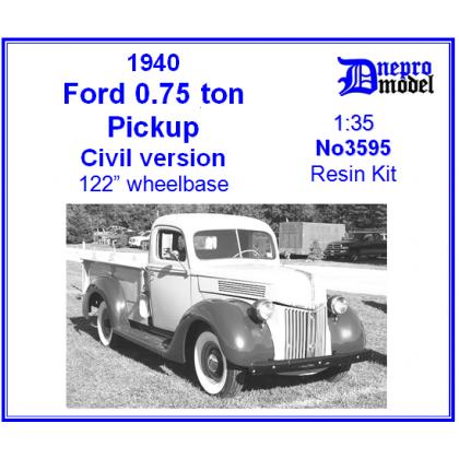 Ford 0 75 ton Pickup Civil version 1/35