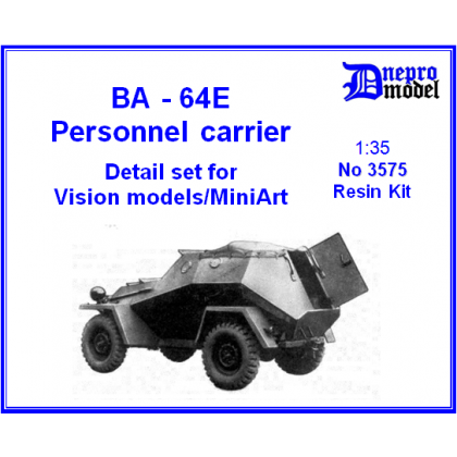 BA-64E Personnel carrier Detail set for Vision models/ MiniArt 1/35