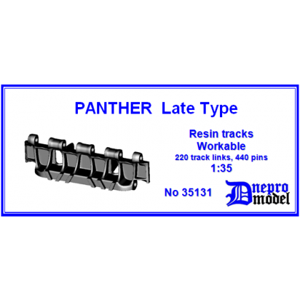PANTHER Late Type Resin tracks Workable 1/35