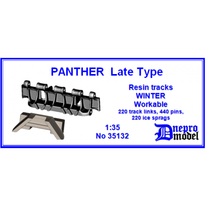 PANTHER Late Type Resin tracks WINTER Workable 1/35