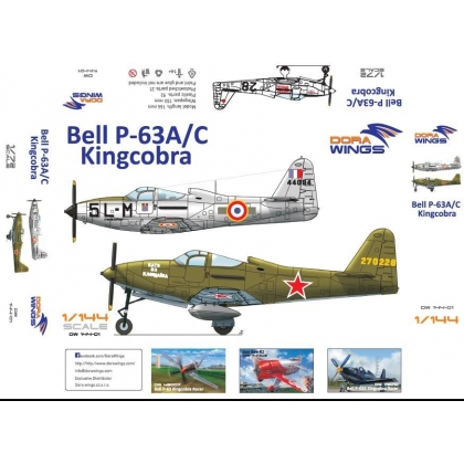 Bell P-63A/C Kingcobra 2 in 1 1/144