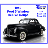 1940 Ford 5 Window Deluxe Coupe 1/35