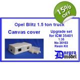 Opel Blitz 1,5 ton truck Canvas cover ..