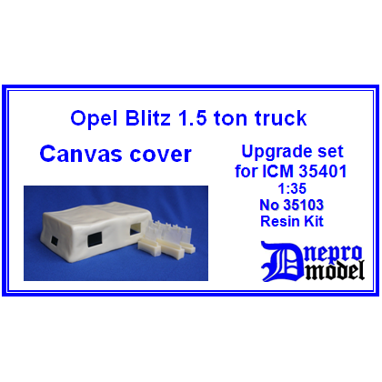Opel Blitz 1,5 ton truck Canvas cover Upgrade set for ICM 35401 1/35