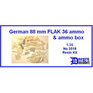 German 88mm FLAK 36 ammo & ammo box 1/35