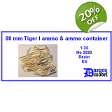 88mm Tiger I ammo & ammo container 1/35