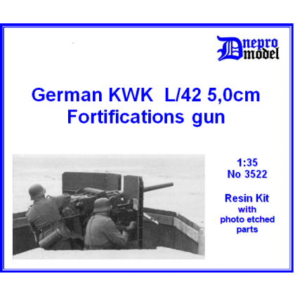 German KWK L/42 50 mm fortifications gun 1/35
