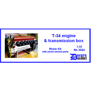 T-34 engine & transmissions box 1/35