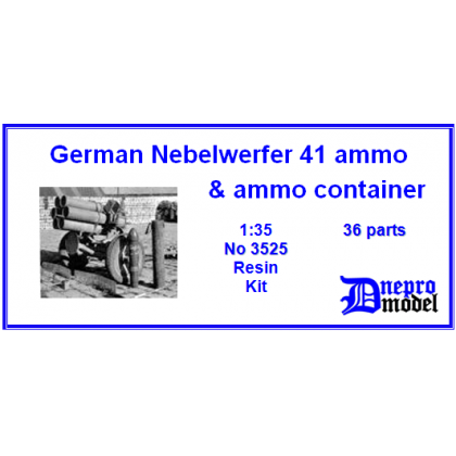 German Nebelwerfer 41 ammo & ammo container 1/35