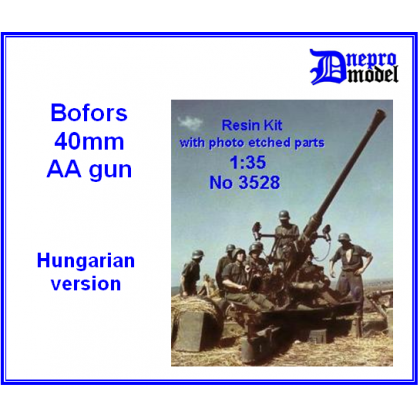Bofors 40 mm AA gun Hungarian version 1/35