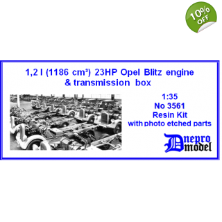 3,6l Opel Blitz engine & transmissions box 1/35